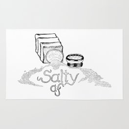 Salty AF - This Salt Shaker is Wide Open - Comic Rug