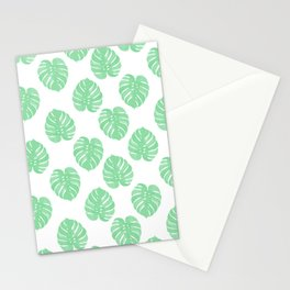 Palm Leaf indoor house plant hipster cheese plant palm leaf tropical vibes Stationery Cards