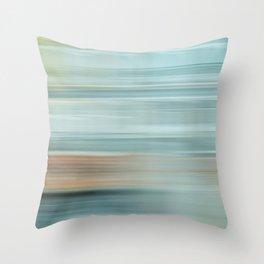 Life (Aqua and Burnt Rose) Throw Pillow
