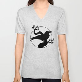 Raven Silhouette I Unisex V-Neck