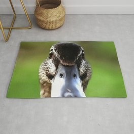 Hello Ducky Quirky Duck Portrait Rug
