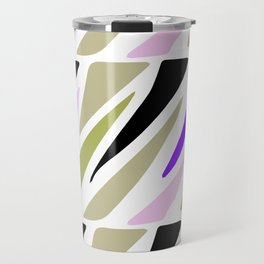 Hand painted abstract pink violet green geometric pattern Travel Mug