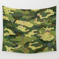 camouflage Wall Tapestries featuring CAMOUFLAGE by DIVIDUS DESIGN STUDIO