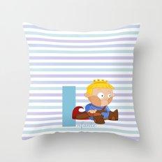 i for infante Throw Pillow