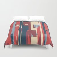 metropolis Duvet Covers featuring Metropolis by Tracie Andrews