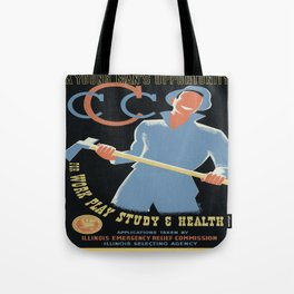 Vintage poster - A Young Man's Opportunity Tote Bag