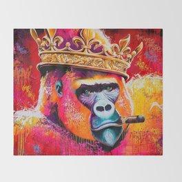KING--GORILLA Throw Blanket