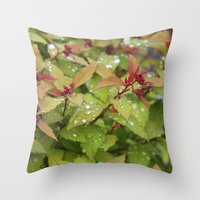 drink Throw Pillows featuring Drink by Kim Hawley