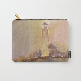 A golden, Crisp Point Carry-All Pouch