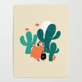 friends in cactus field Poster