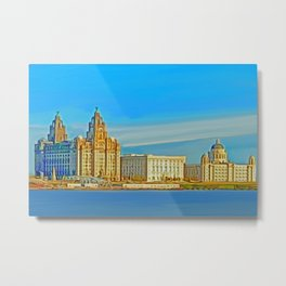 Liverpool 3 Graces (Digital Art) Metal Print