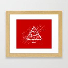Under His Eye Framed Art Print