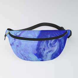 Blue Abstract Divided Artwork Fanny Pack