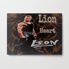 Leon The Lion Heart Metal Print