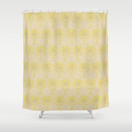 Mustard Spice Moods Palm Shower Curtain