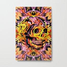 Skull V Metal Print