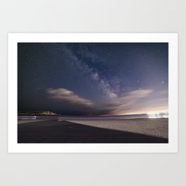 Milkyway at Good Harbor Beach Art Print