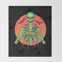 I Love Halloween Throw Blanket