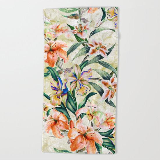 RPE Seamless Floral III Beach Towel