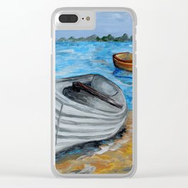 Caught in the Tide Clear iPhone Case