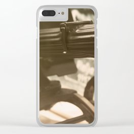Old machine Gun. Maxim gun. First World War Machine gun. Clear iPhone Case