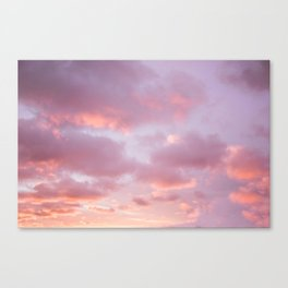 Unicorn Sunset Peach Skyscape Photography Canvas Print