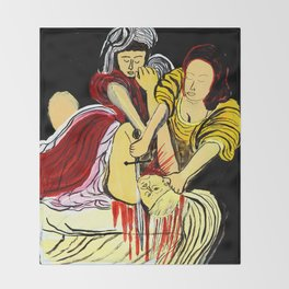 Judith Beheads Holofernes Throw Blanket