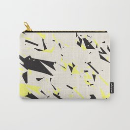 pressed linen with black & yellow /geometric series Carry-All Pouch