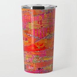Firewalk Abstract Art Collage Travel Mug