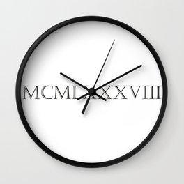 Roman Numerals - 1988 Wall Clock