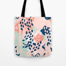 Kylie - abstract mint pastels painting boho trendy simple minimalist canvas home decor Tote Bag