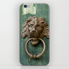 Lion heads of precious metal iPhone Skin