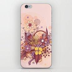 Zentangle, summer rose pink, purple doodle iPhone & iPod Skin