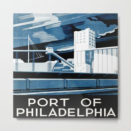 Vintage poster - Port of Philadelphia Metal Print