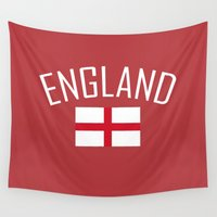 england Wall Tapestries featuring England by Earl of Grey