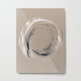 Circle and Twist Metal Print