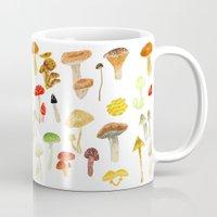 mushrooms Mugs featuring Mushrooms by Lara Paulussen