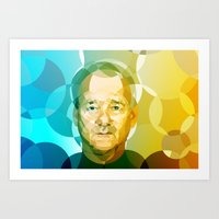 bill Art Prints featuring Bill by Tom Johnson