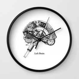Left Brain Wall Clock