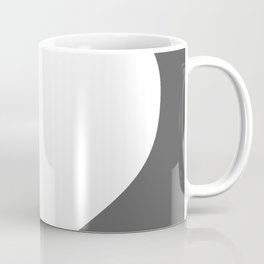 Heart (White & Grey) Coffee Mug