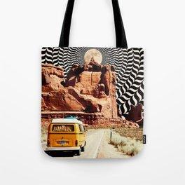 Illusionary Road Trip Tote Bag