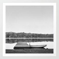 Boat at Dock Art Print