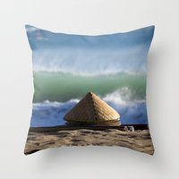 hats Throw Pillows featuring Hats & Mats by jarjake