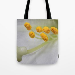 White Lys Close-up Tote Bag