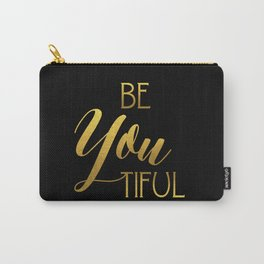 BeYoutiful Gold Foil Carry-All Pouch