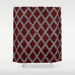 red gray rhombus Shower Curtain