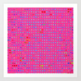 Neon Party Shapes: Abstract Design Art Print