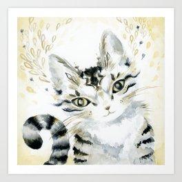 Curiosity Cat Art Print