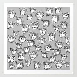 toomanyfaces -5- Art Print