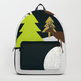 Deer on a hill Backpack